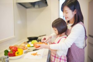 cooking with kid